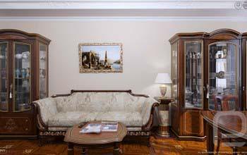 3D визуализация гостиной квартиры.