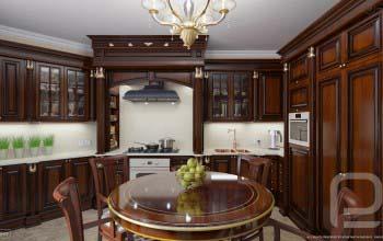 3D визуализация кухни в квартире.