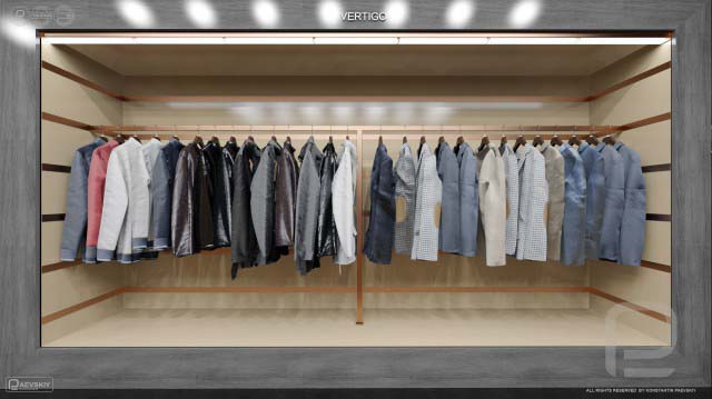 Дизайн интерьера магазина одежды, бутика