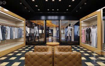 Дизайн интерьера магазина одежды, бутика.
