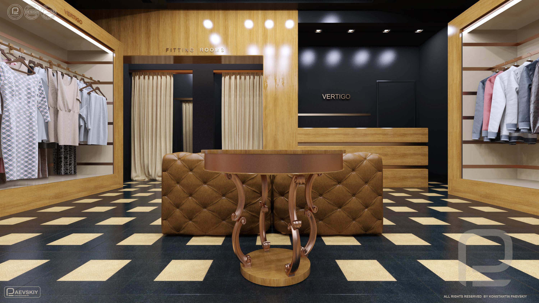 3d визуализация проекта интерьера магазина