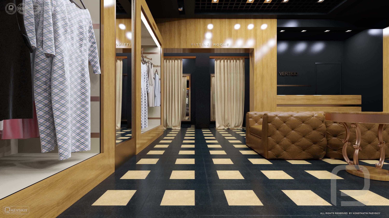 3d визуализация магазина одежды