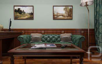 Дизайн кабинета в классическом стиле.