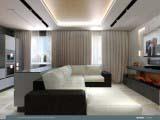 Современный дизайн интерьера гостиной кухни
