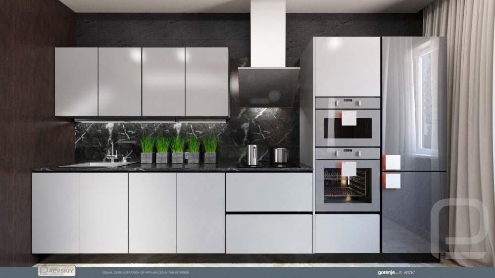 функциональный интерьер гостиной кухни в современном стиле