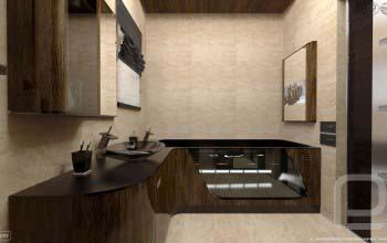 Авторский дизайн ванной в современном стиле.