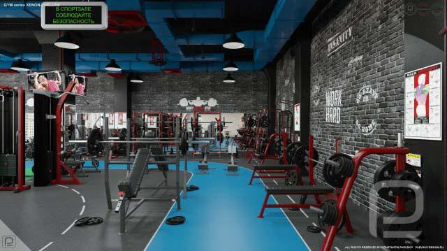 Дизайн фитнес центра