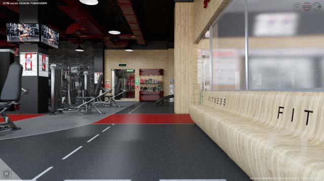 Дизайн интерьера тренажерного зала