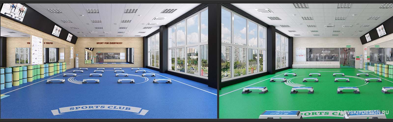 Дизайн тренажерного зала, фитнесс центра, клуба