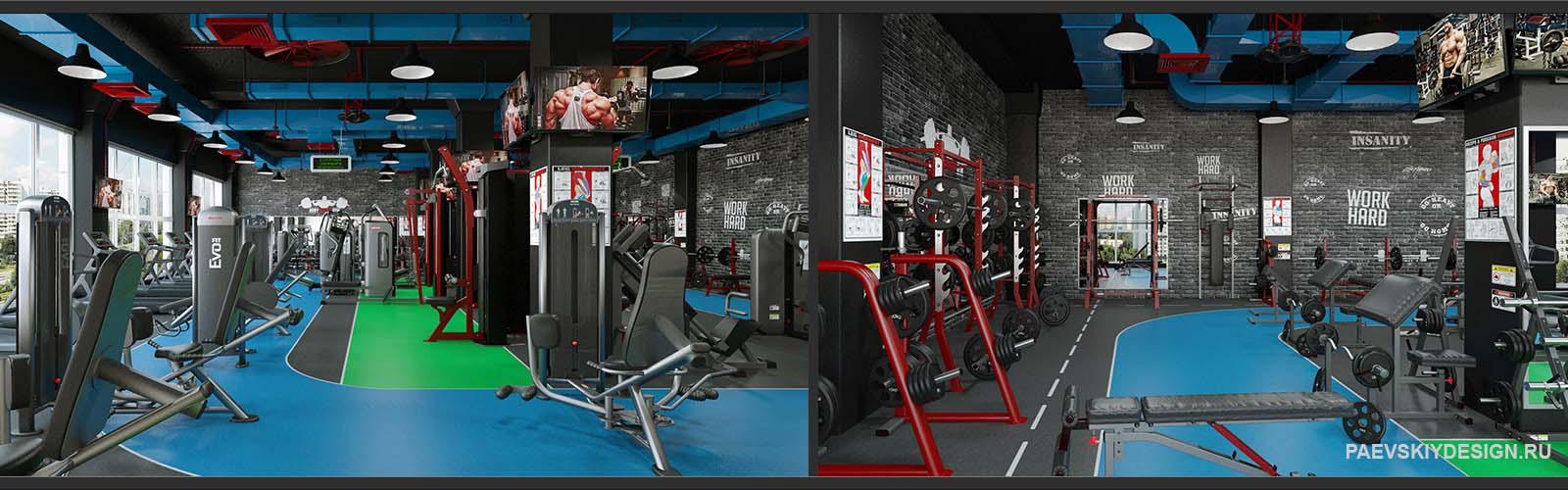 Дизайн фитнесс центра. Современное оформление тренажерного зала