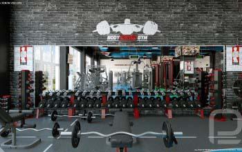 Дизайн тренажерного зала, фитнесс центра, клуба.