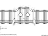 кованный забор для парка