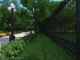 дизайн забора для парка сквера