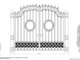 эскиз кованного забора ворот