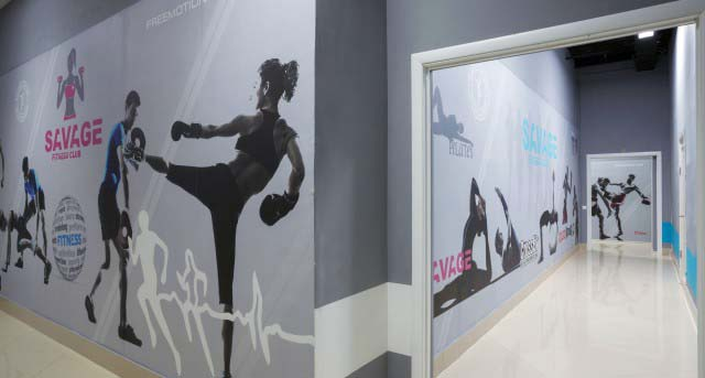 Дизайн фитнес клуба SAVAGE в Московской области