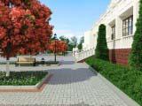Ландшафтный дизайн территории Центра Культуры