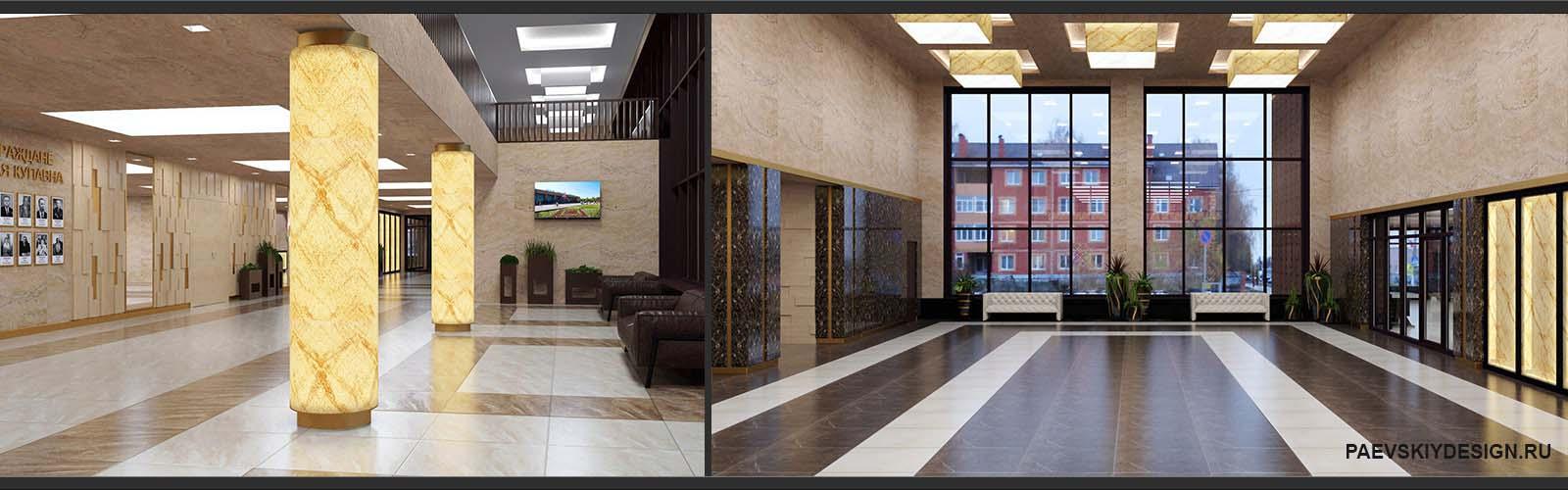 Дизайн внутренних помещений дома культуры