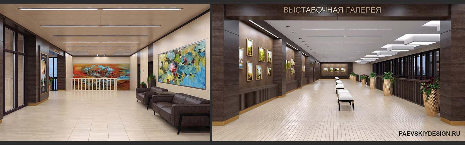 Дизайн выставочного зала галереи