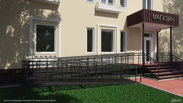Дизайн фасада здания жилого дома