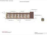 Схематичное архитектурное решение конструкции стеллы