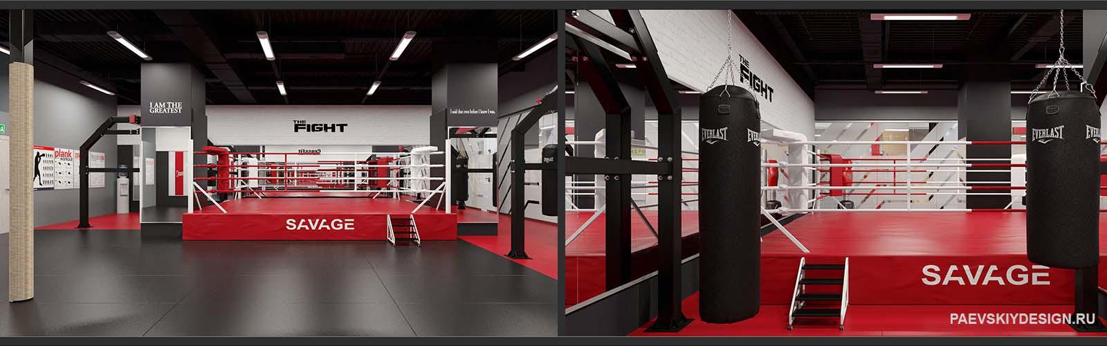 Оформление зала единоборств фитнес клуба