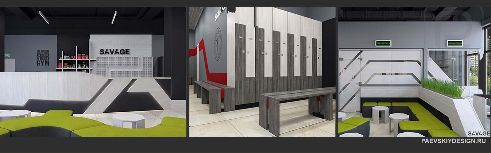 Индивидуальный дизайн мебели и предметов декора для фитнес клуба