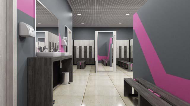 Проектирование женской раздевалки фитнес клуба, особенности планирования