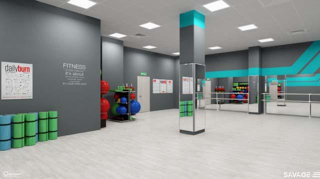 Дизайн и проектирование зала групповых занятий фитнес клуба, особенности