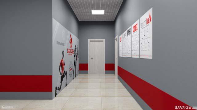 Проектирование коридоров фитнес клуба