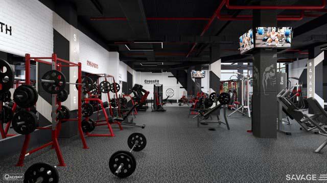 Дизайн тренажерного зала фитнес клуба, особенности проектирования и оформления