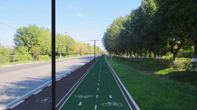 Концепция благоустройства пешеходной аллеи, вело дорожки г. Ногинск