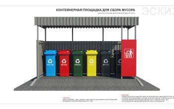 Контейнерные площадки для сбора мусора.