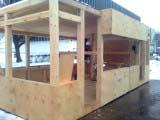 Выполнение работ по строительству павильонов