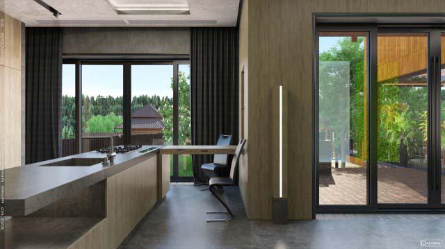 Дизайн интерьера загородного дома частного дома
