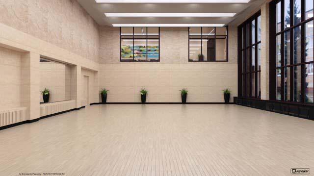 Дизайн танцевального зала в доме культуры
