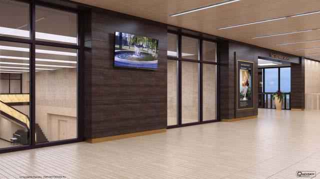 Дизайн выставочного зала галереи в общественном интерьере дома культуры