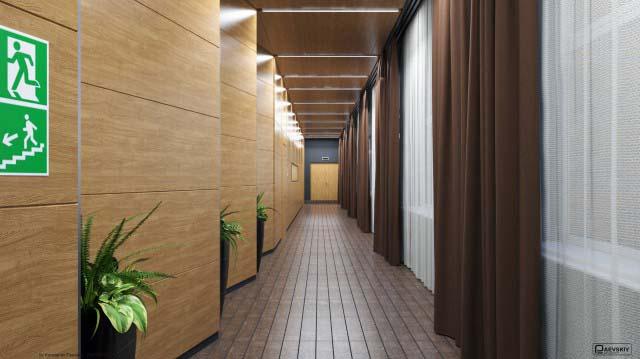 Оформление коридора и тамбура библиотеки