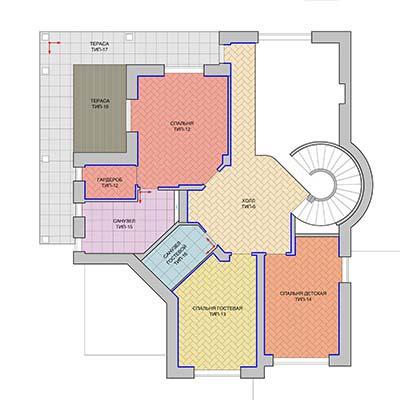 Рабочий этап разработки дизайна интерьеров