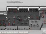 3d расстановка оборудования тренажерного зала