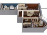 3d расстановка мебели и оборудования в квартире