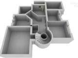размерный план коттеджа 3d