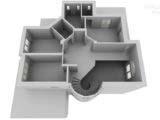 обмерный план загородного дома 3d