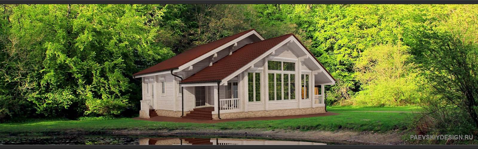 Дизайн деревянного дома из профилированного бруса