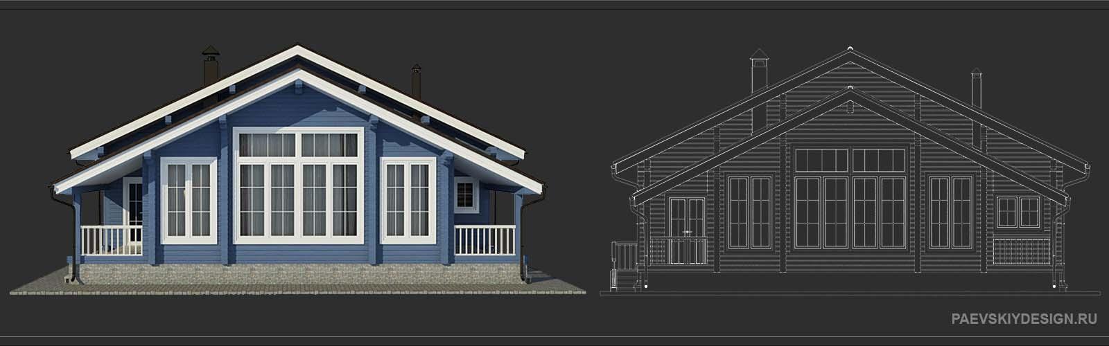 Цветовое решение для деревянного дома