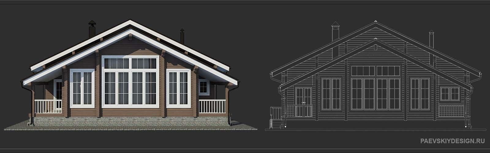 Цветовое решение для деревянного дома из бруса