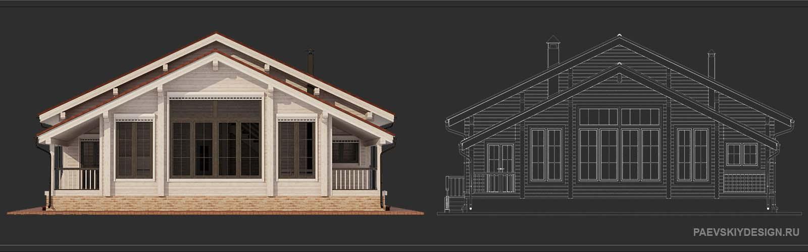 Цветовое решение для деревянного дома из профилированного бруса