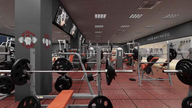 Дизайн спортивного комплекса, фитнес центра