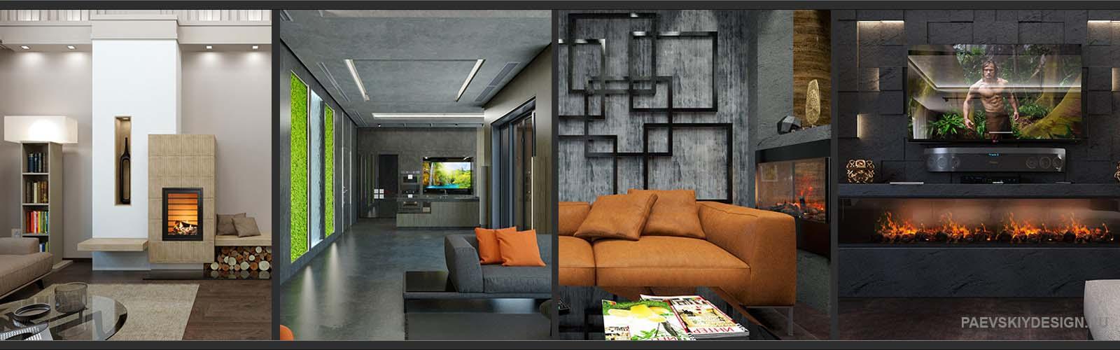 Дизайн интерьера таунхауса в Москве