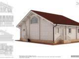 Эскиз дома из профилированного бруса