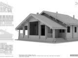 Графический эскиз дома из профилированного бруса